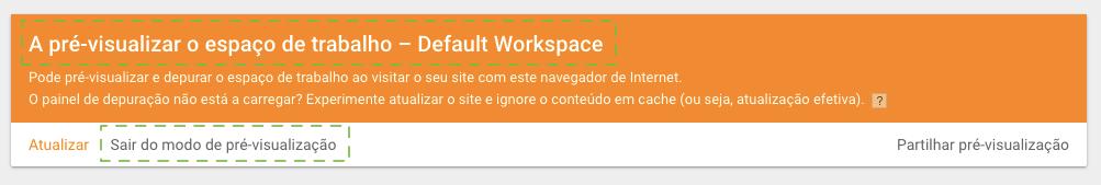 Pré-visualização do Google Tag Manager ativada
