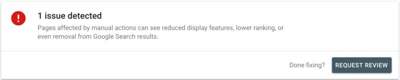 notificação do google search console da searchengineland.com